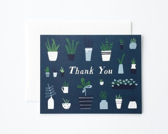 Thank You Card, Plant Thank You Card, Plants Thank You Card
