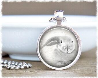 Rabbit Necklace • Bunny Pendant • Rabbit Jewelry • Animal Lover Gift • Bunny Jewelry