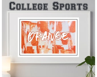 Syracuse Orange abstract poster