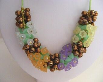 Multi Colour Flower Necklace