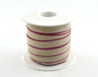 Pink Ribbon fancy trim color 11 mm