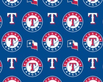 Texas Rangers fabric Major League Baseball MLB Teams red blue white professional sports 100% cotton fabric by the yard
