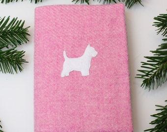 Harris Tweed Westie Notebook & Cover