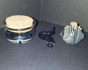 Glass snake and jars