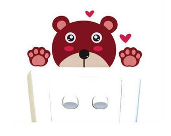 1 Sticker bear switch or outlet