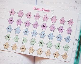 Kawaii Stars Planner Stickers | Stationery for Erin Condren, Filofax, Kikki K and scrapbooking