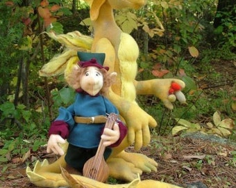 To Find A Wonder, Percival the dragon and Goon sewing pattern, PDF