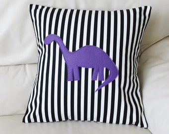 "Dinosaur Pillow Cover - Stegosaurus Pillow Cover - Diplodocus Pillow Cover - 18"" x 18"" pillow cover"