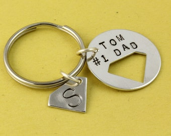 Father's Day Gift for Dad - Superhero Keychain - Super Hero Keychain - Personalized Keychain - Custom Keyring-Best Dad Keychain-Hero Keyring