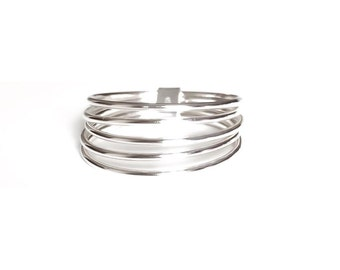 SALE 5 sterling silver ring stacker set SALE