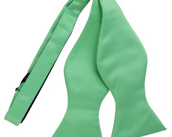 New Polyester Men's Solid Aqua Green Self-Tie Bowtie, for Formal Occasions