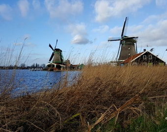 Windmill Photography - Holland - Netherlands - Amsterdam- Nature - Home Decor - Photo 11x17