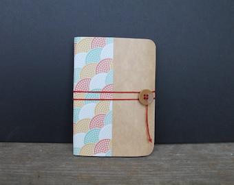 handmade colorful cardboard notebook