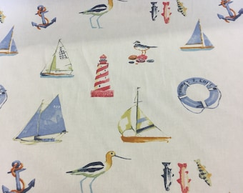 Fryetts nautical curtain fabric by the metre