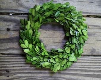 Boxwood Wreath  , Wedding Wreath , Small Round Boxwood ,Spring Wreath, Summer Wreath