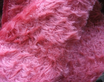 Curly Coral Mohair Fabric 1/8th metre 15mm Dense