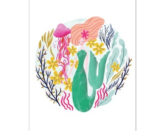 Mermaid Art Print | Under the Sea
