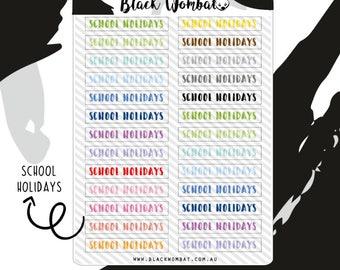 School Holidays Planner Stickers - Erin Condren - Mulberry POP - Various Planners - Kikki K - Bullet Journal