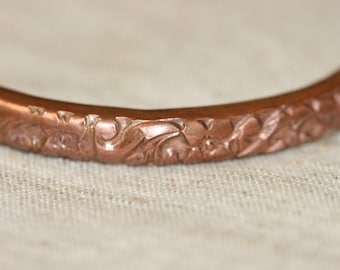 Handcrafted Bracelet ,Recycled Copper Bracelet, Open Bangle, Copper Cuff Bracelet, Copper Bangle, Unisex Cuff,