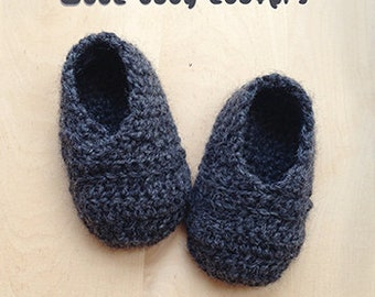 Wool Baby Loafers Crochet Pattern Newborn Booties Infants Loafers Preemie Shoes Crochet Pattern (WL01-G-PAT)