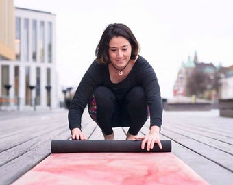 Grounded Factory Yoga Mat Stone Pink