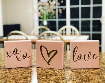 Valentine's Day Blocks || Love || xoxo || <3