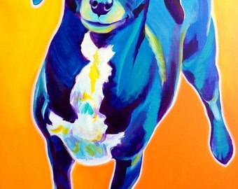 Chiweenie, Pet Portrait, DawgArt, Dog Art, Pet Portrait Artist, Colorful Pet Portrait, Chiweenie Art, Pet Portrait Painting, Art Prints
