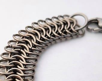 Woman's Bracelet; chainmail bracelet; stainless steel bracelet; metal; ladies bracelet