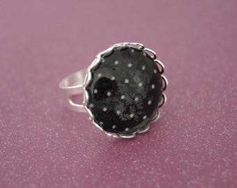 BLACK - BA011 DOTS RING