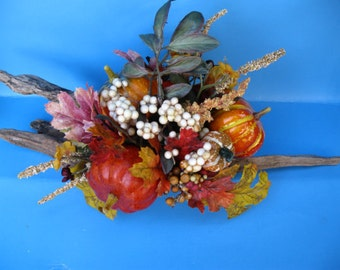 Fall and Winter Centerpiece on driftwood ooak