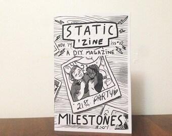 Static Zine #10: Milestones (Black & White)