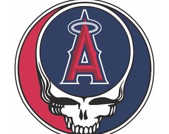 Grateful Dead Anaheim Angels lot style t shirt