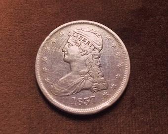 Rare 1837 Capped Bust Half Dollar Super Nice