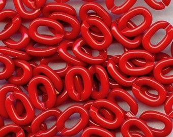 Smooth SPLIT Links CHERRY Red