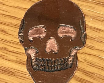 Copper skull trinket