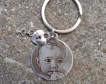 porte clés ou bijou de sac avec gravure personnalisée