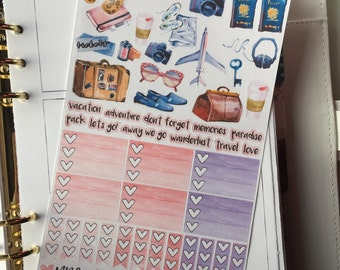 Travel Plans Planner Stickers