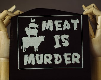 Meat is Murder Patch | Punk patch | Screen print | Patches for Jackets | Metal patch | Animal Rights Patch | Liberation Patch | Vegan Patch