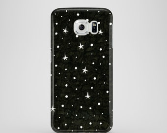 B&W Stars phone case / iPhone case / Samsung Galaxy S7, Samsung Galaxy S6,
