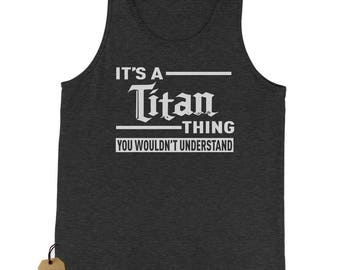 It's A Titan Thing Jersey Tank Top for Men