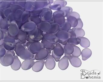 60 pcs Transparent Matte Tanzanite Czech Preciosa PIP Beads 5x7 mm (8853)