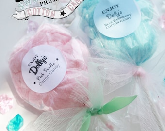 10 Cotton Candy Lollipops
