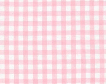 "Petal 1/4"" Plaid Cotton, Carolina Gingham, Pink Scarf Fabric,  Plaid Quilting fabric,Apparel Fabric,Plaid cotton Scarf,Robert Kaufman"