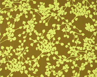 HALF YARD - Amy Butler Fabric, Belle Collection, Coriander in Olive, Cotton, Floral - SALE