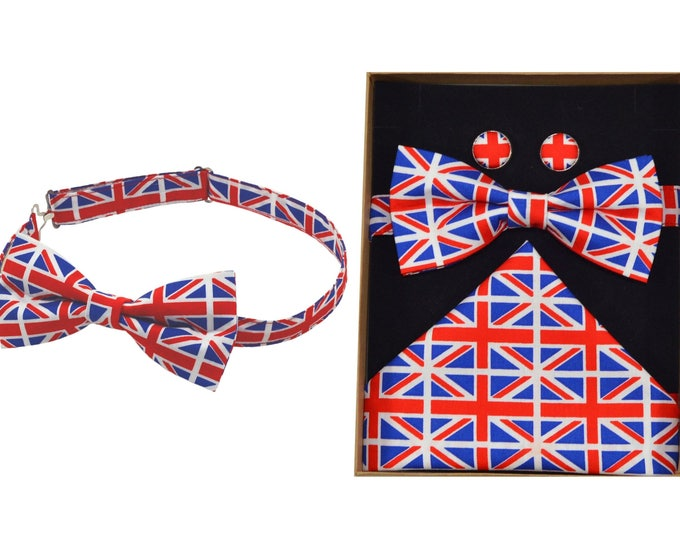 Union Jack Bow Tie & Boxed Gift Set