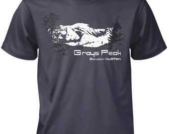 LoyalTee 14ers Line Grays Peak T-Shirt  FREE SHIPPING on all orders of 3 or More LoyalTees!