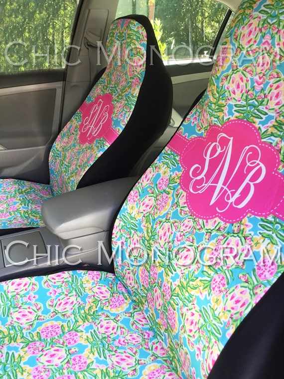 Sea Turtle Car Accessories Seat Covers for Vehicle Car Seat Covers Front Seat Covers Floor Mats Monogram Swimming Turtles Car Mats Lilly