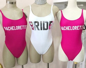 Personalized Swimsuits for Bride - Bridesmaids Swimsuits - Mrs Swimsuit - Personalized Swimsuits