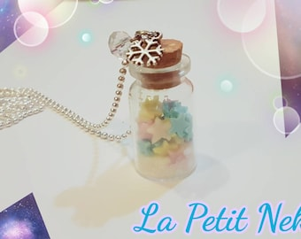 Necklace with a bottle filled with stars!