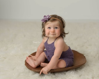 PROMOTIONAL PRICE : 6-9M Size Rompers,  Photo Prop, Purple